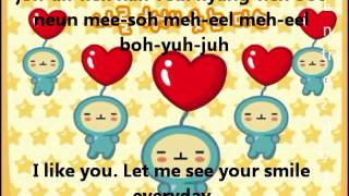 Korean number song with Lyrics + English sub
