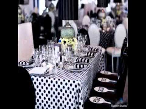 Diy Black And White Party Decorations Decor Youtube