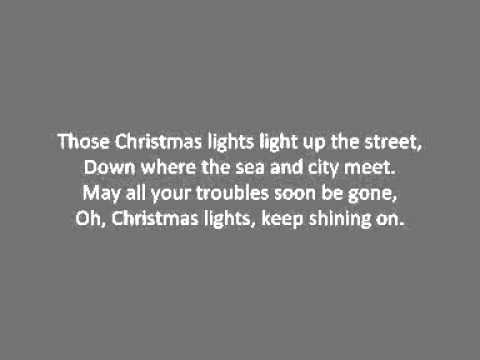 Coldplay Christmas Lights Lyrics Youtube
