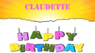 Claudette   Wishes & Mensajes - Happy Birthday