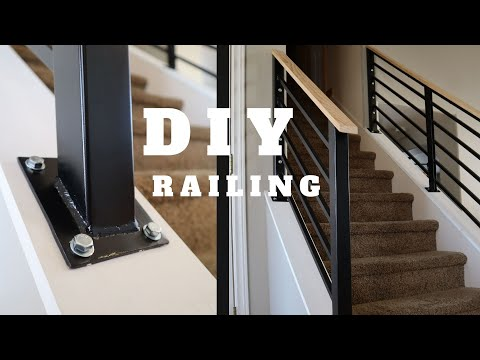 Diy Stair Railing Staircase Makeover Youtube | Building A Stair Rail | Craftsman Style | White | Horizontal | Glass | Inexpensive