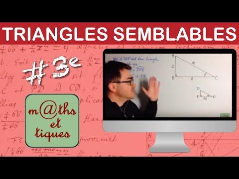 Download Utiliser des triangles semblables (1) - Troisième