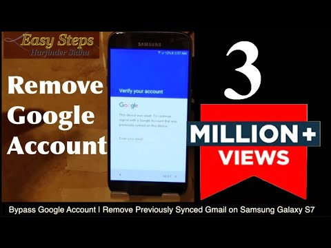 Bypass Google Account | Remove Previously Synced Gmail on Samsung Galaxy S7