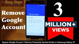 SOLVED - Bypass Google Account Verification | Remove Previously Synced Gmail on Samsung S7 thumbnail