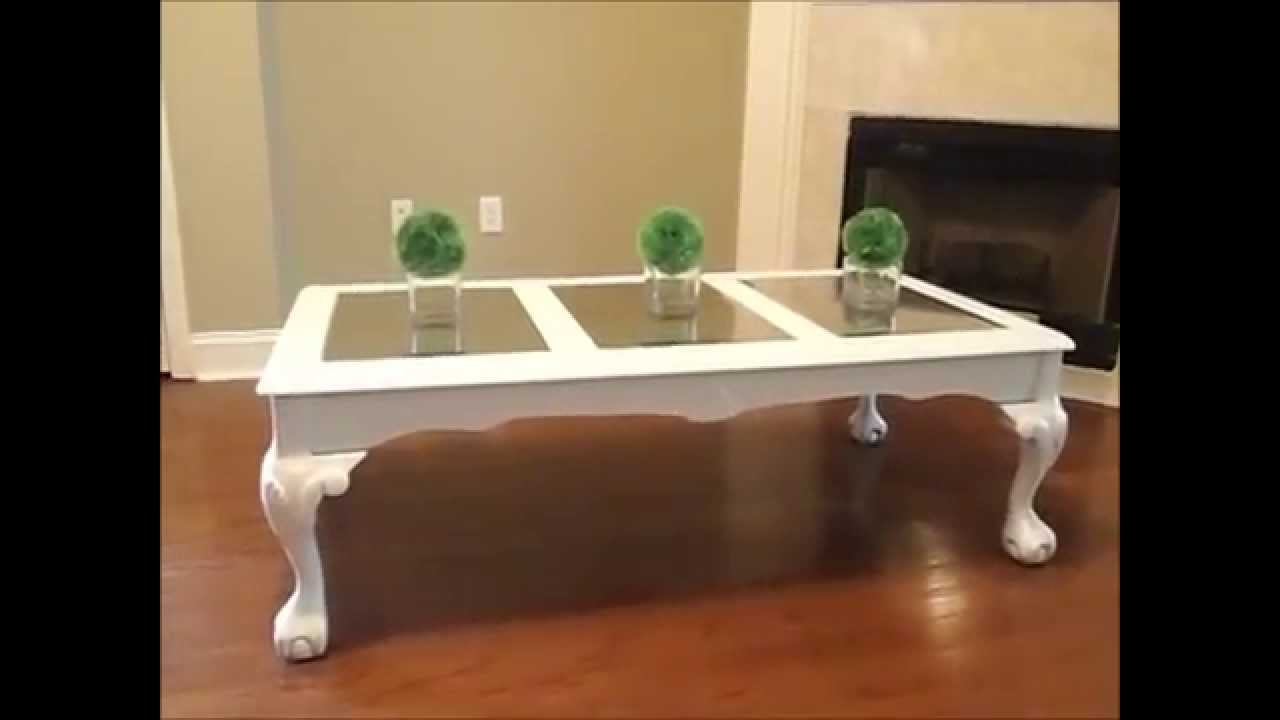 how i transformed my coffee table from goodwill - youtube