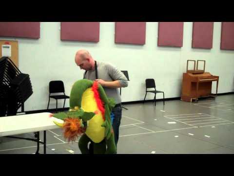 Houston Grand Opera's dragon puppet