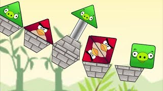 Angry Birds Piggies Out - BATTLE TRIANGLE BIRDS KICK OUT TRIANGLE PIGS!