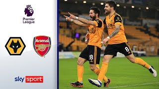 Gunners sehen zweimal rot, Moutinho trifft! | Wolves - Arsenal 2:1 | Highlights - Premier League