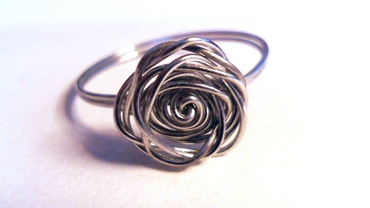 Ben noto Simple wire wrap rose ring DIY - YouTube WM24