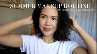 MALASSEZIA FOLLICULITIS/FUNGAL ACNE | how I've been doing my makeup this summer!