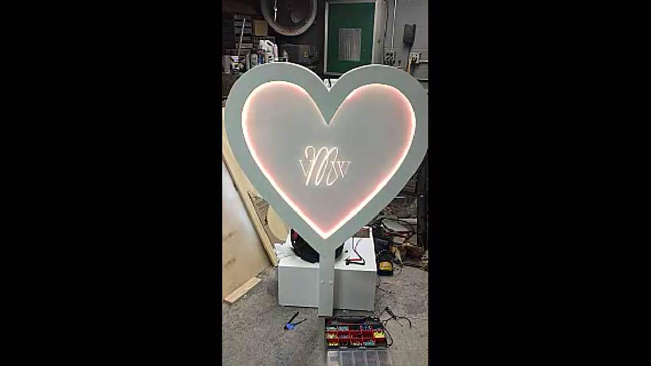 Wedding Heart Decoration Youtube