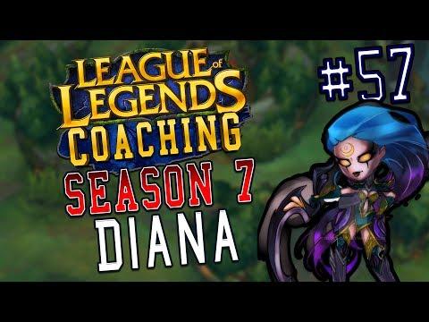 S7 LoL Coaching #57 - Diana (Bronze)