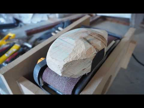 Bright Stem - Making of Wooden Abstract Sculpture S8.1 Grey (Time Lapse)