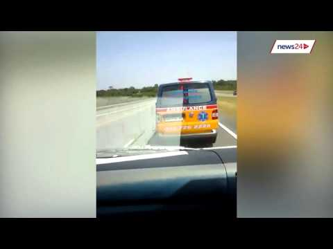 Ambulance death race caught on camera