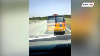 WATCH: Ambulance death race caught on camera