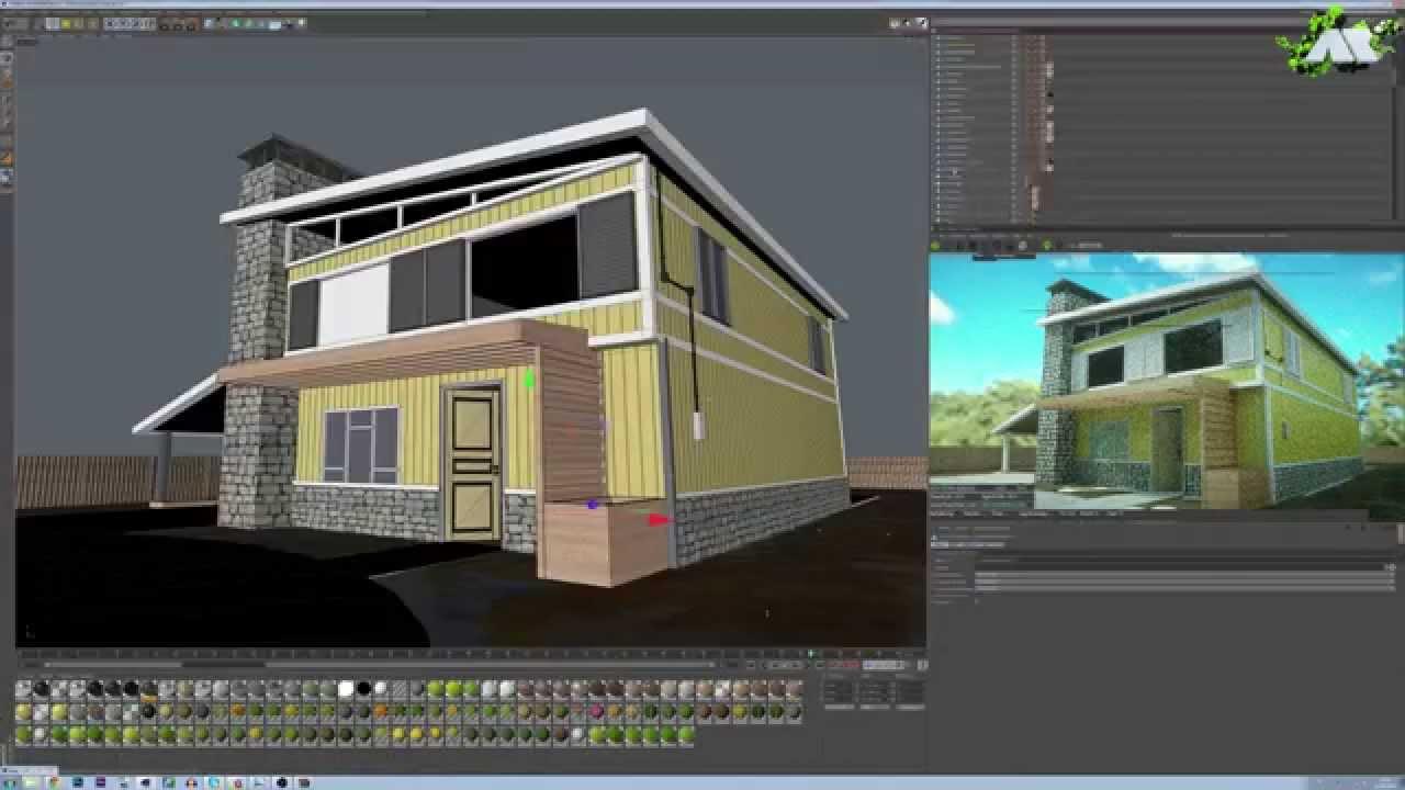 Epic speed art mod lisation d 39 une maison de nuketown en for Modelisation maison 3d