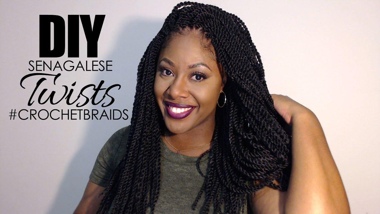 DIY CROCHET BRAIDS SENEGALESE TWISTS #CROCHETBRAIDS - YouTube
