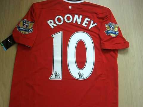 www.mundodascamisas.com.br - Camisa do Manchester United nº10 Rooney