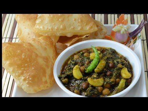 Indian Garbanzo green Curry - Kala Channa Hara Masala  - By Vahchef @ vahrehvah.com