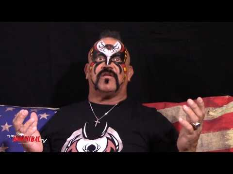 Road Warrior Animal on Hulk Hogan