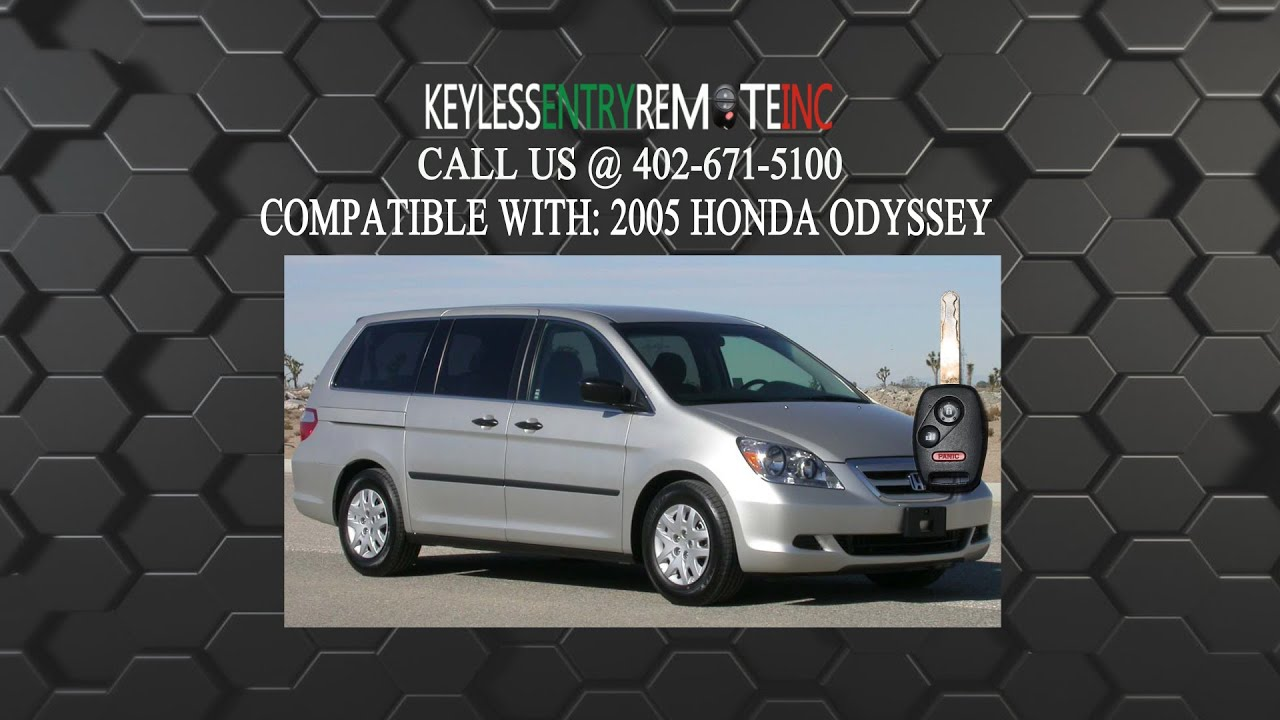 How to replace honda odyssey key fob battery 2005
