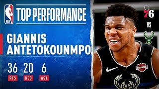 Giannis Records 36 PTS & 20 REB!