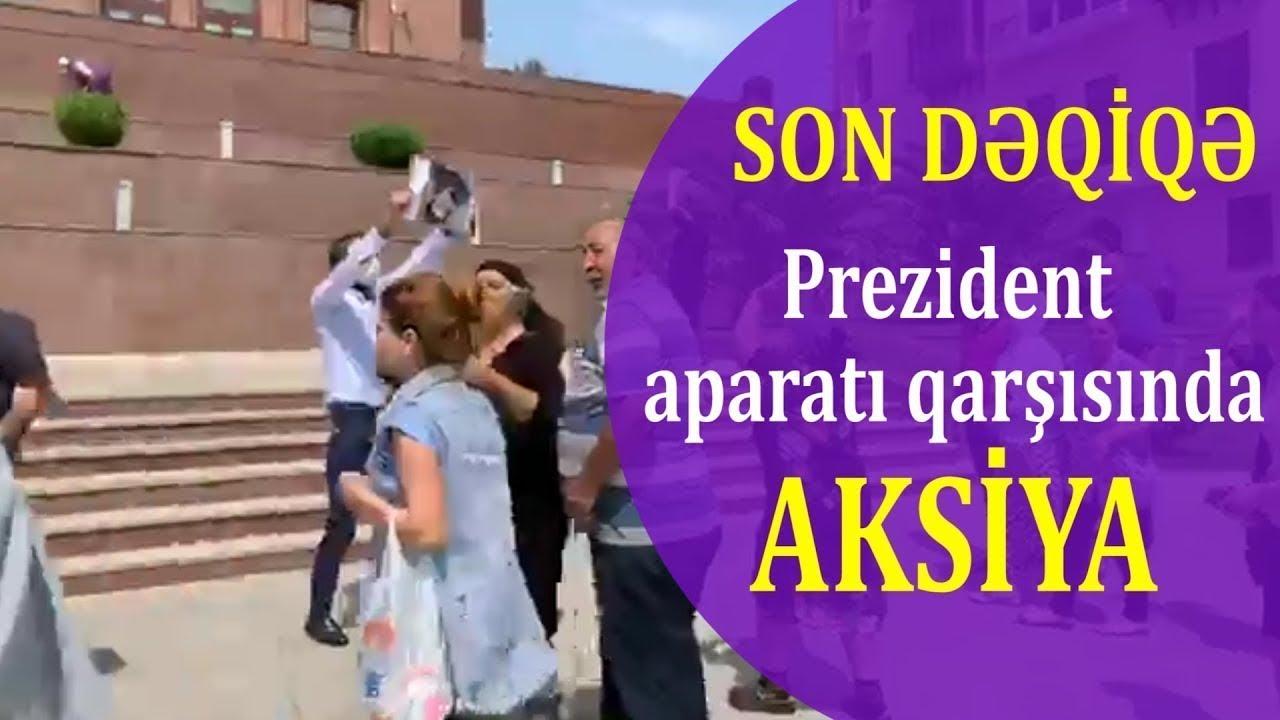 TƏCİLİ: Prezident aparatı önünə gözlənilməz yürüş: AZADLIQ