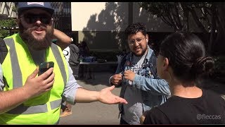 Leftist Protesters Assault Pro Trump DACA Student At Michael Knowles' Build The Wall Speech