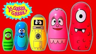 Play Doh Yo Gabba Gabba Stacking Cups Surprise Eggs For Children Learn Colors Nesting Poupées Russes