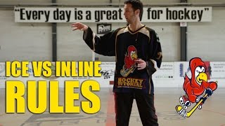 Difference Between Ice and Inline, Roller Hockey Rules - Offside, Clearing and Icing