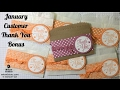 January Customer Thank You Bonus - Gift Card Baggies - Stampin' Up! - Melissa's Kre8tions