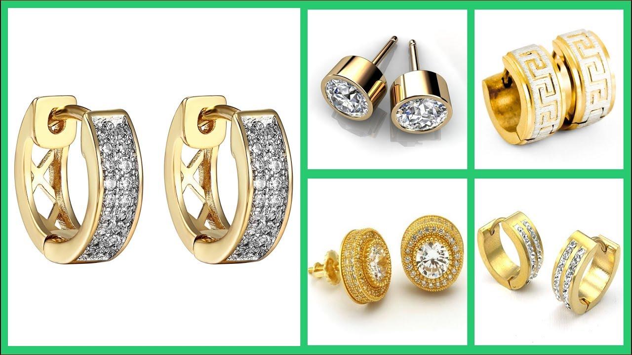Gold Earrings For Men Jewellery Designs Mens