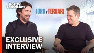 Christian Bale & Matt Damon Talk Epic Races & That Wild Fight in 'Ford v Ferrari' | Rotten Tomatoes