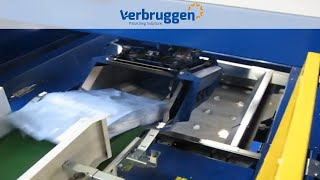 Palletizing | Automatic Palletizer machine VPM-8 by Verbruggen | 15kg plastic bags of petfood