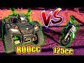 QUAD 4X4 VS MI MOTOCROSS PITBIKE !! - CARRERA ÉPICA en CARRETERA !! *no creerás lo que ocurre*