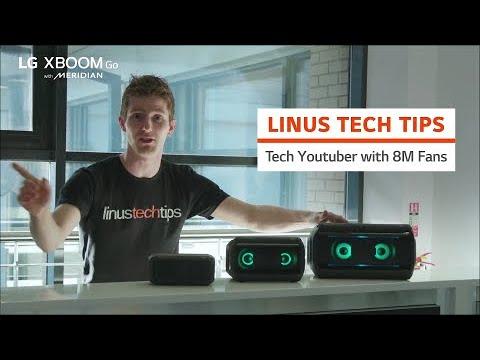 LG XBOOM Go l Tech Youtuber Linus Tech Tips
