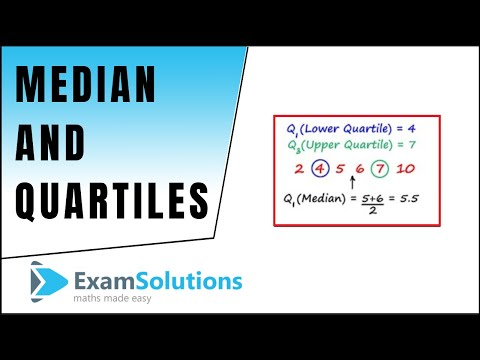 Finding the Median and Quartiles : ExamSolutions Maths Made Easy