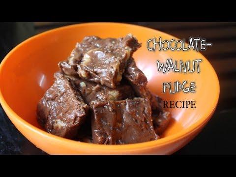 Download Youtube: CHOCOLATE-WALNUT FUDGE  | RECIPE (just 4 ingredients)