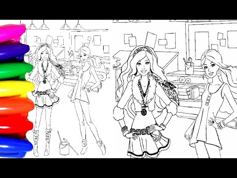 Coloring Pages Barbie And Chelsea Coloring Book Videos For Children