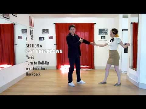 Learn the California Routine | Lindy Hop Swing Dance | Level 6 Lesson 3 | Shauna Marble
