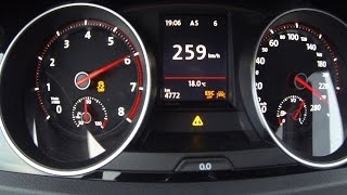 0-259 Golf GTI Clubsport 2017 - Acceleration top speed