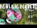 DIY BEAN BAG BUCKET TOSS GAME
