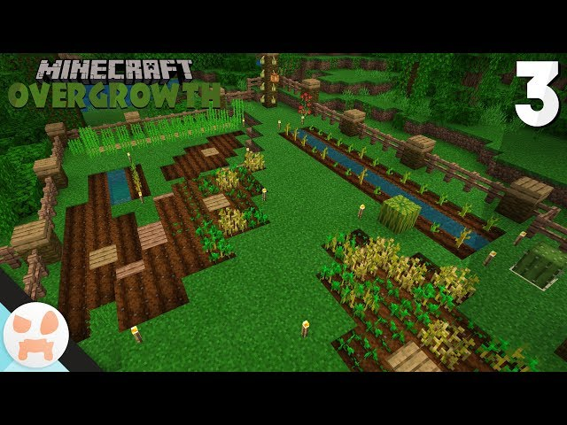 FARMS! | Minecraft Overgrowth Episode 3 | Bedrock 1.8 Lets Play