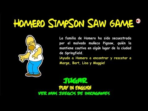 Hd Homero Simpson Saw Game Walkthrough Guia Youtube