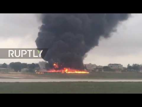 Malta: 5 killed after plane crashes during takeoff at Luqa airport, Malta