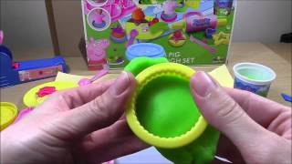 Play Doh Mega Dough Fun Peppa Pig Picnic Food Kitchen Set Cookies For Kids