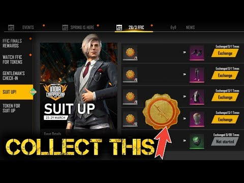 Free Fire 28/3 FFIC Events Details - How To Collect Suitup Token In Free Fire - FF Stream Token