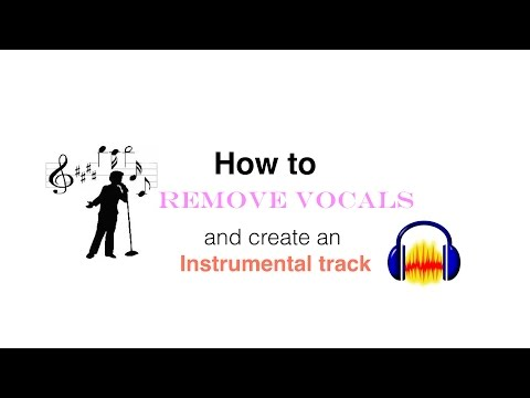 How to remove vocals from a song and create an instrumental track