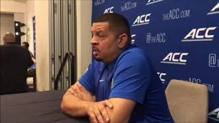 Jeff Capel at ACC Media Day 2019 | Pitt Basketball | PSN