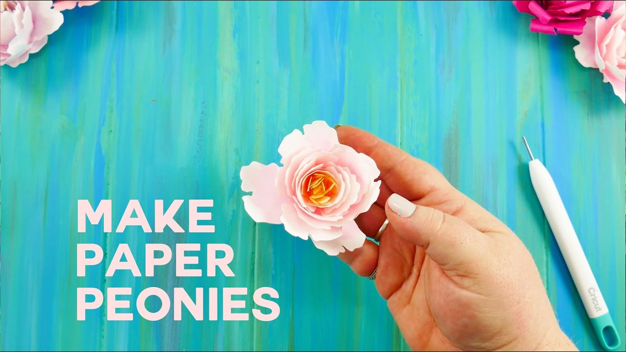 Make An Easy Paper Peony Rolled Flower Youtube